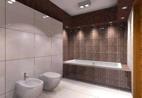projektant wnętrz warszawa - łazienka widok na wannę