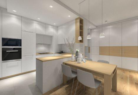 Projektant wnętrz Warszawa - projekt kuchni