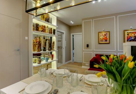 projekt salonu warszawa drzwi chowane w scianie