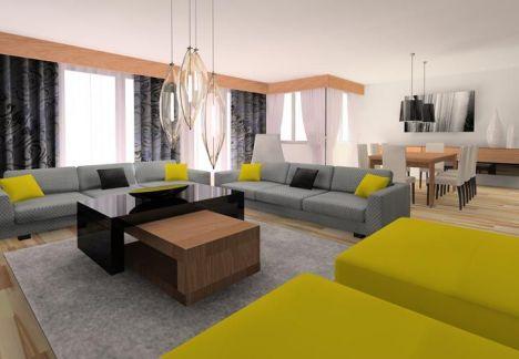 projekt i dekoracje salonu - MKdezere