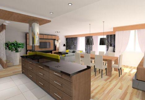 architekt wnętrz - widna kuchnia i przestronny salon