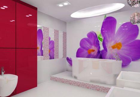 architekt wnętrz - projekt łazienki plus piękne dekoracje