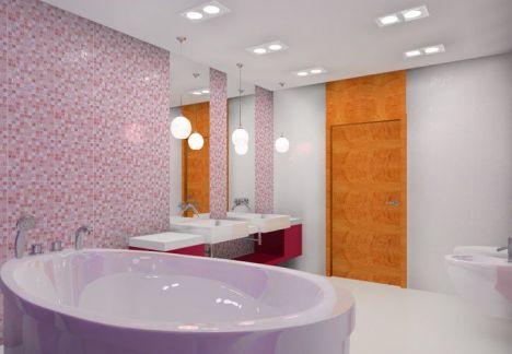 nowoczesny projekt łazienki z wolnostojącą wanną