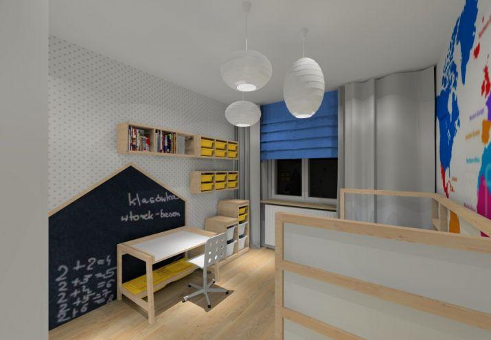 Projekt pokoju dla chłopca.