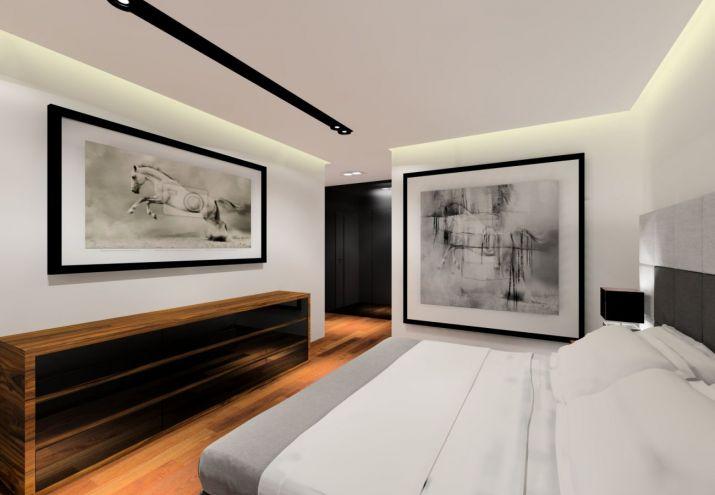 Projekt eleganckiego mieszkania w stylu glamour.