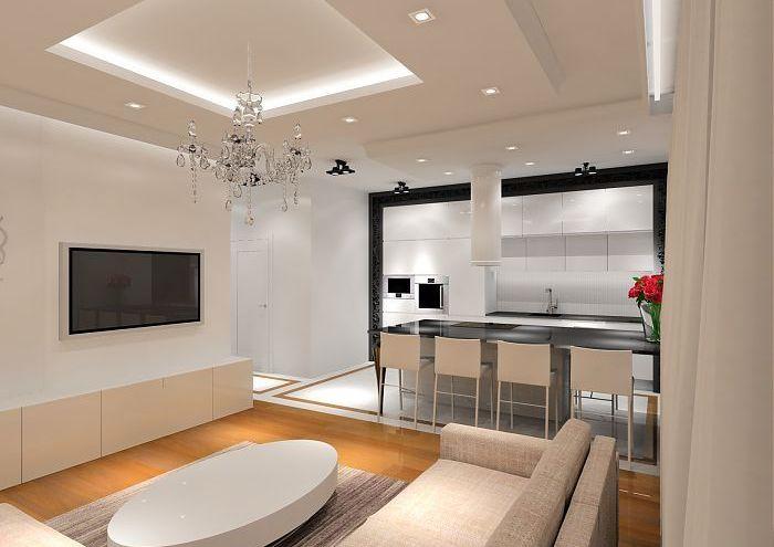nowoczesny apartament w czerni i bieli