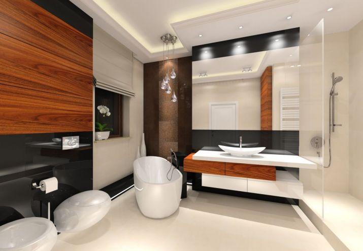 Elegancka, ciepła łazienka glamour