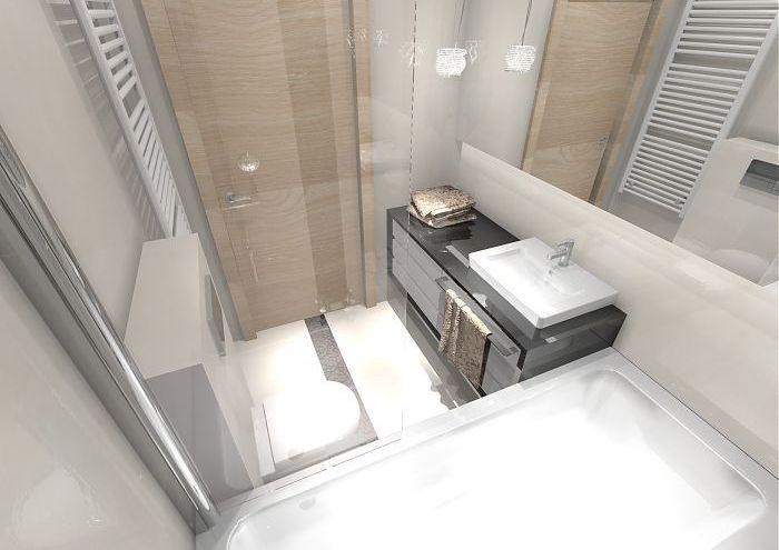 projekt wnętrz małej łazienki