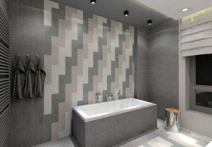 Aranżacja łazienki szare płytki