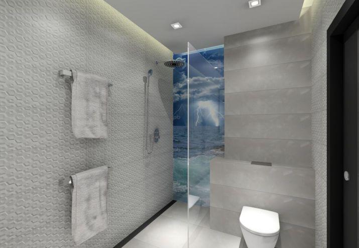 Aranżacja łazienki ze szkłem zamiast płytek