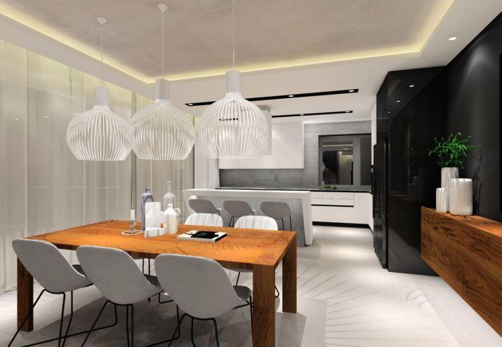 Projekt kuchni z białymi meblami