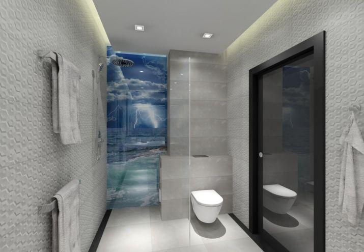 Projekt łazienki dekoracyjne oświetlenie