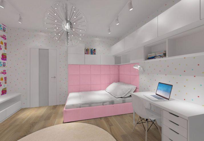 Projekt pokoju dziecka - kolor różowy