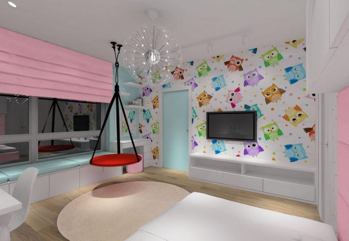 Projekt pokoju dziecka z tapetą