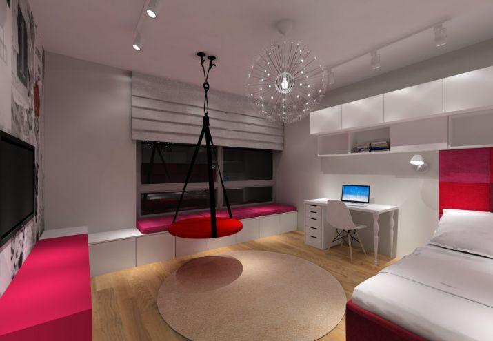 Projekt pokoju - różowy pokój dla dziewczynki