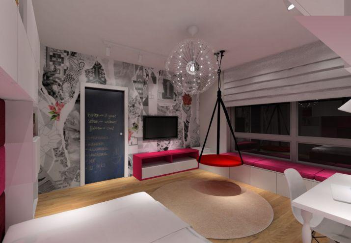 Projekt pokoju - tapeta w sypialni