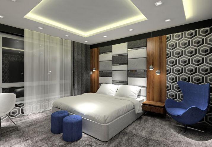Projekt sypialni - oświetlenie LED w sypialni
