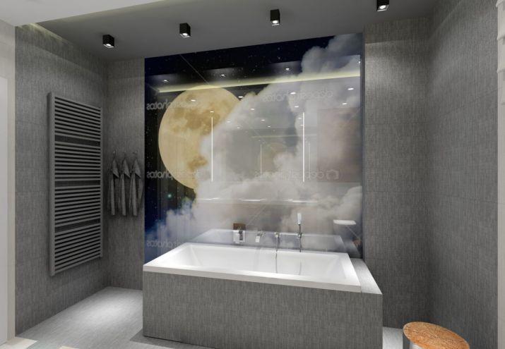 Projektowanie wnętrz - łazienka w szarościach