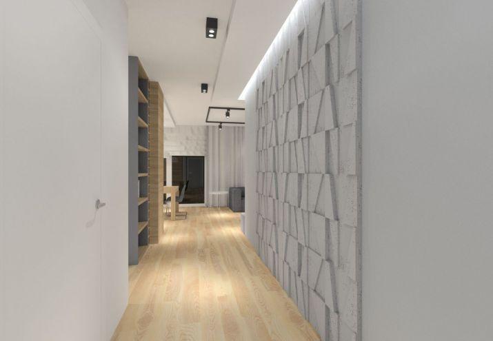 Projekt holu z betonem na ścianie