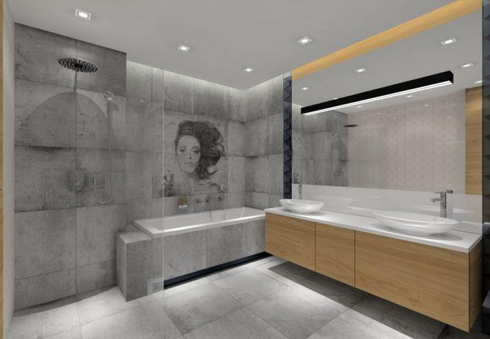 Projekt łazienki-oświetlenie led w łazience