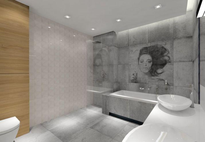 Projekt łazienki-płytki Tubądzin zień