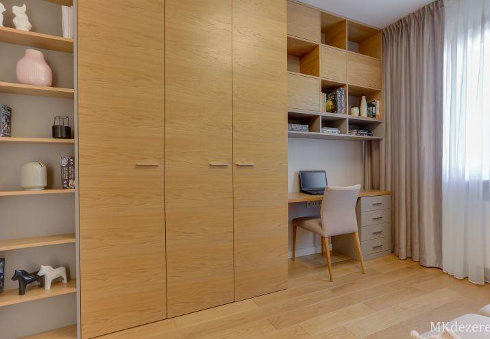 Projekt gabinetu i pokoju gościnnego w jednym.