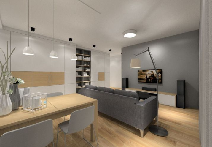 Architekt wnętrz Warszawa - projekt salonu