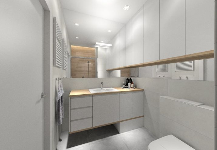 Projekt łazienki w stylu skandynawskim.