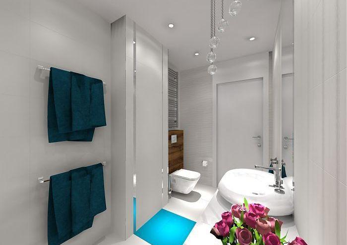 projekt jasnej łazienki