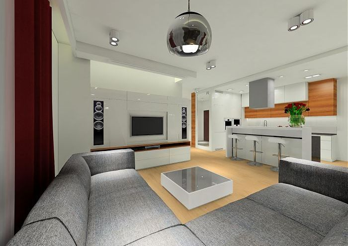 Projekt nowoczesnego apartamentu w Wilanowie